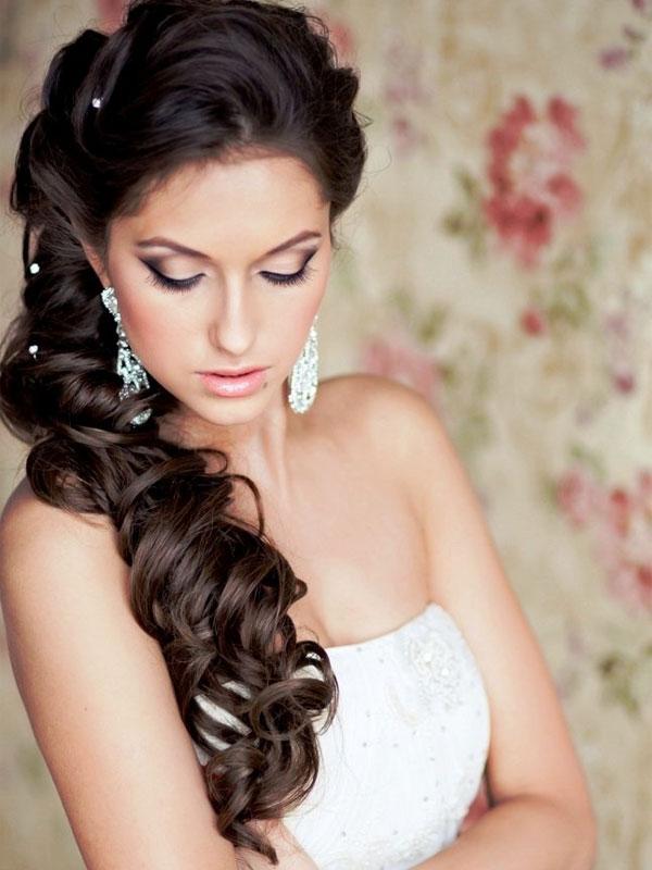 свадебные прически на длинные волосы фото 1