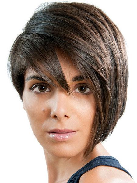 асимметричные прически на средние волосы фото 5
