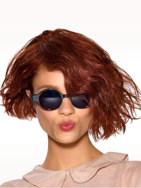 прически на средние волосы: тренды 2014 фото 5