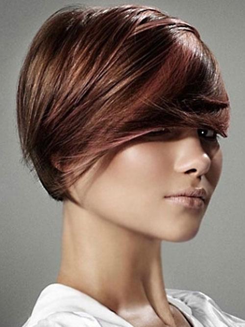 прически на средние волосы: тренды 2014 фото 6