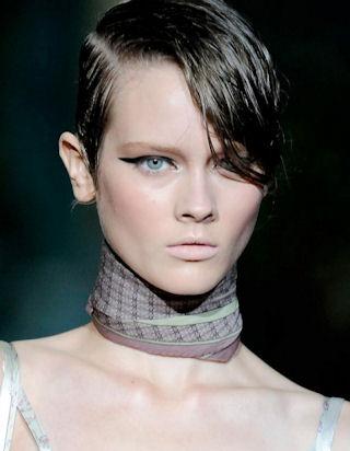 эффект мокрых волос для коротких волос фото