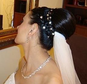 свадебные прически с фатой фото 1