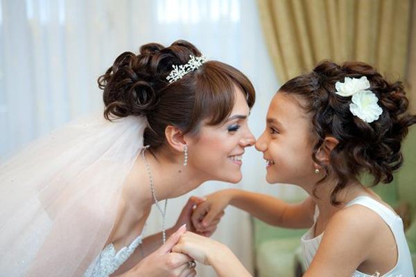 свадебные прически с фатой фото 2