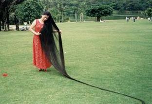 Xie Qiuping - самые длинные волосы фото
