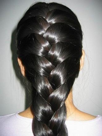 косички на средние волосы - фото 10