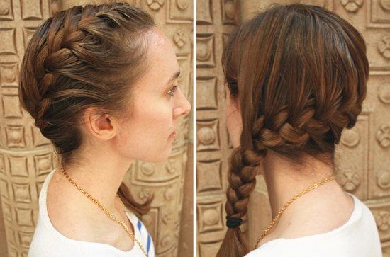 косички на средние волосы - фото 7