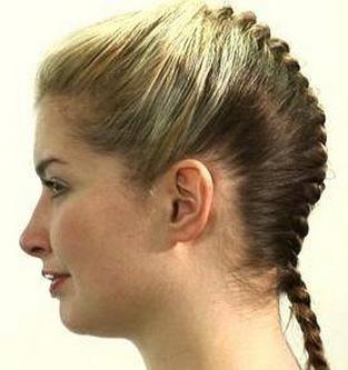 французские косички на короткие волосы