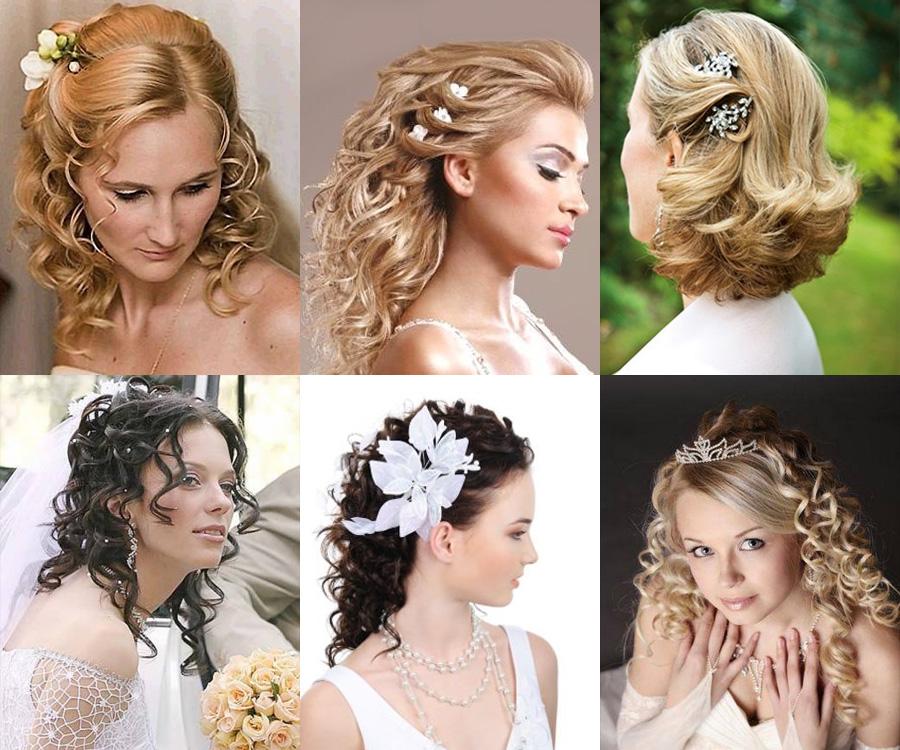 свадебные прически - распущенные волосы
