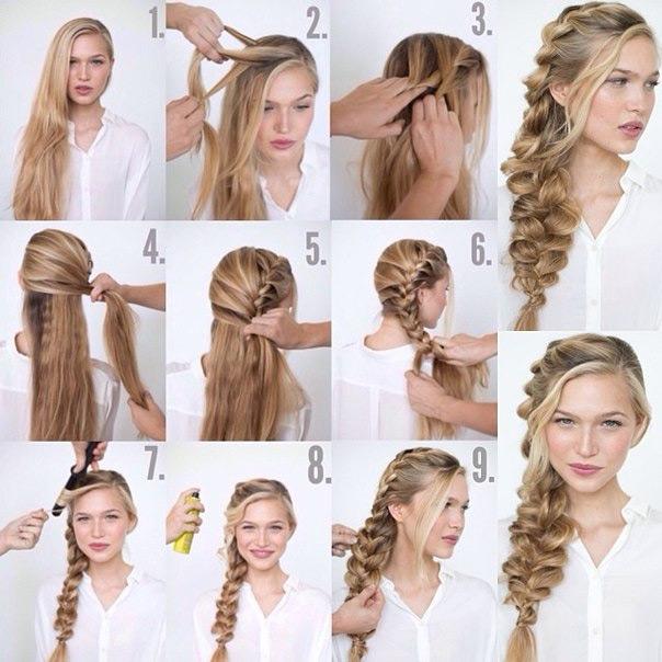 поэтапное плетение косы