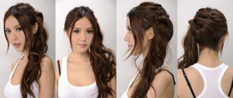 как красиво заколоть волосы
