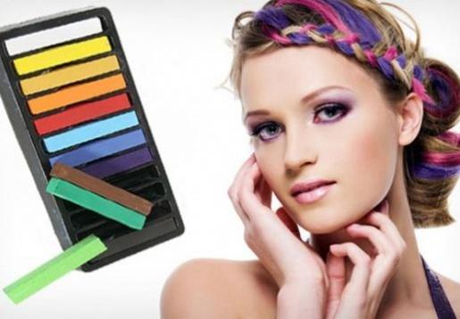 Как красиво покрасить кончики волос пастелью
