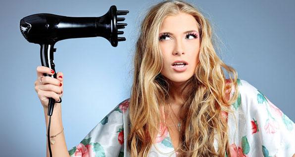 как уложить волосы диффузером