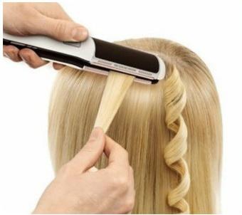 кудри на длинные волосы с помощью утюжка