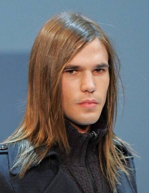 мужские прически на длинные волосы