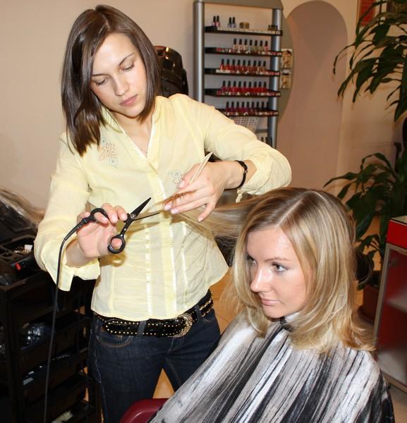 филировка волос по всей длине