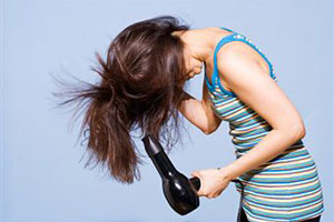 советы по сушке волос феном