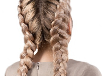 француская коса наоборот